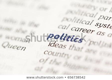政治的 · 辞書 · 定義 · 言葉 · ソフト · フォーカス - ストックフォト © chris2766