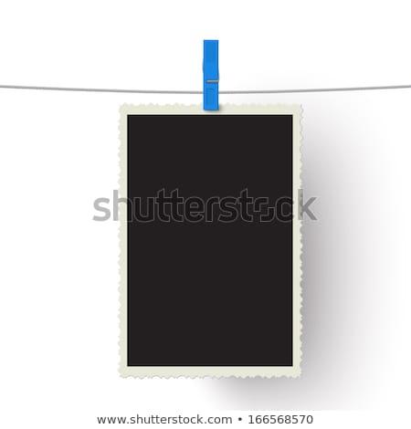 fotózás · papír · azonnali · fotó · keret · csatolva - stock fotó © stevanovicigor