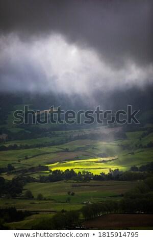 rays · güneş · bulutlar · karanlık · imzalamak · fırtına - stok fotoğraf © mikko