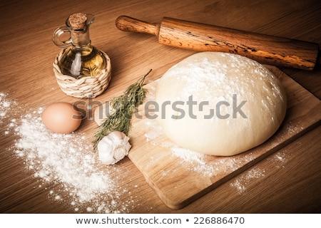 Panetteria farina uovo sfondo Foto d'archivio © nalinratphi
