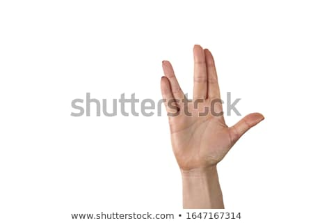Vulcan salute Stock photo © nito