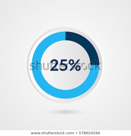25 · por · cento · 3D · assinar · armazenar - foto stock © make