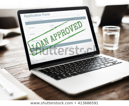 computer notebook with loan approved  Stock photo © tungphoto