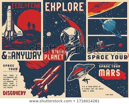 Foto stock: Espacio · exterior · elementos · Cartoon · vehículos · verde · cielo