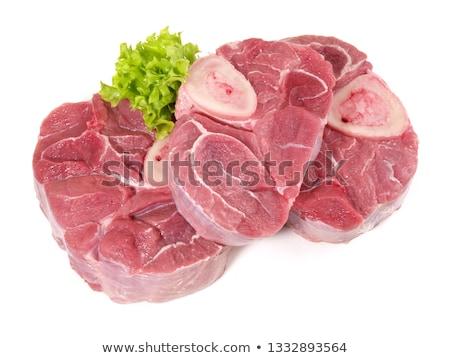 Crudo ternera carne fondo frescos aislado Foto stock © M-studio