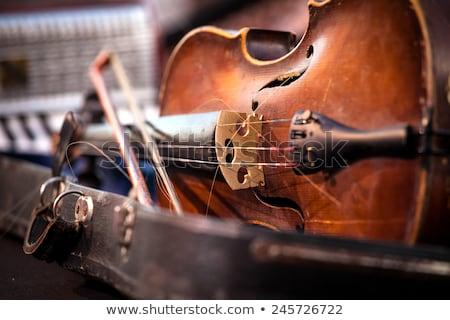 Vintage velho usado violino arco música Foto stock © IvicaNS
