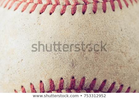 öreg bőr baseball kesztyű klasszikus barna idő Stock fotó © Hofmeester