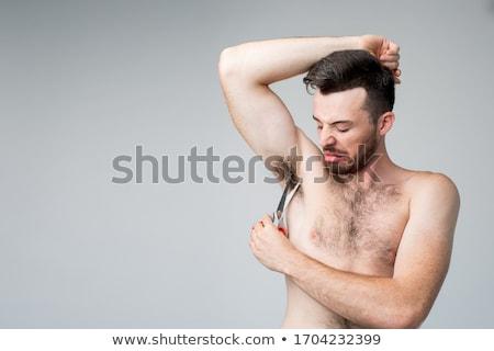 年輕 好看,好懂,好記,好用 吸引力 男子 強健的身體 濕 商業照片 © deandrobot