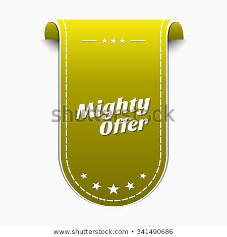 Mighty Offer Yellow Vector Icon Design Stock photo © rizwanali3d