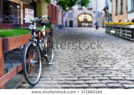 расплывчатый аннотация европейский старый город улице современных Сток-фото © stevanovicigor