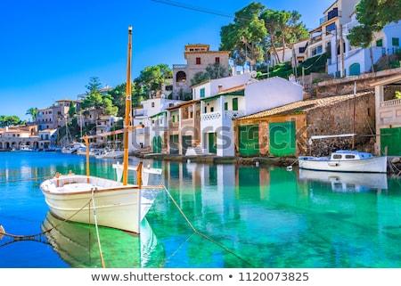 köy · İspanya · şehir · mavi · ülke · tatil - stok fotoğraf © lunamarina