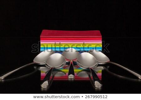 Pięć dwanaście czarny szkła biurko Zdjęcia stock © CaptureLight