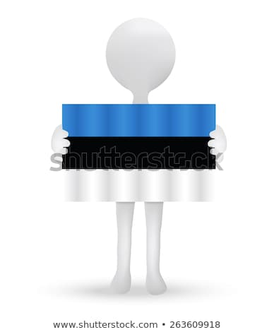 small 3d man holding a flag of Estonia Stock photo © Istanbul2009