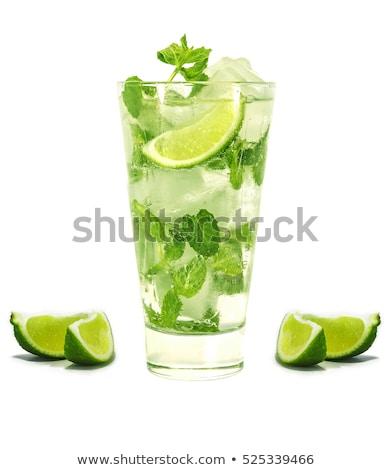 Мохито пить извести коктейль лист Сток-фото © Kayco