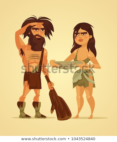 prehistoric couple Stock photo © adrenalina