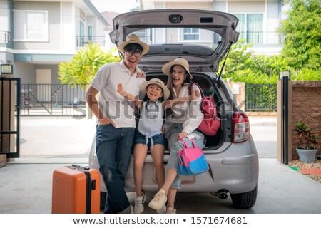 Família viajar mulher crianças criança verão Foto stock © fanfo