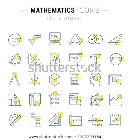 Numbers Counting Square Vector Yellow Icon Design Set Stock photo © rizwanali3d