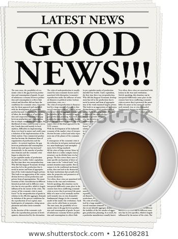 Una buena noticia taza de café éxito Foto stock © devon
