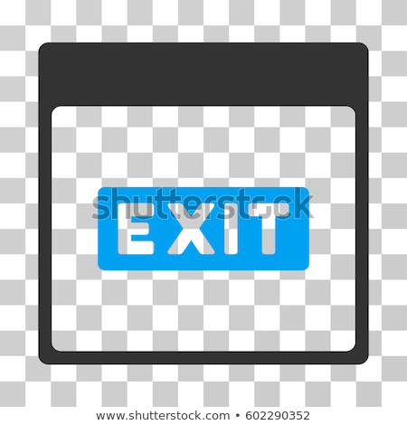 Log Out Blue Sticky Notes Vector Icon Design Stock photo © rizwanali3d