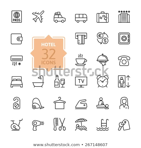 suitcase thin line icon stock photo © rastudio
