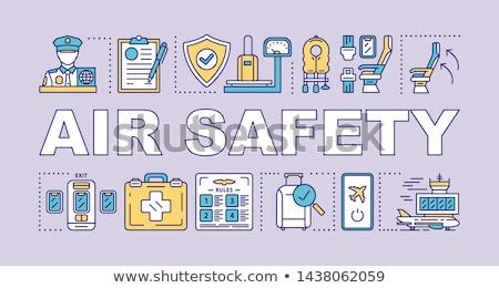Güvenli bağlantı mor vektör ikon dizayn Stok fotoğraf © rizwanali3d