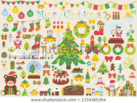 クリスマス · サンタクロース · 贈り物 · 市 · 幸せ - ストックフォト © anatolym