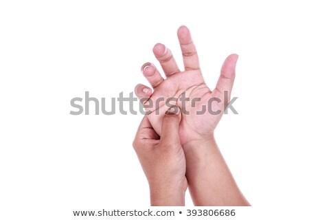Mulher mão cotovelo sorridente jovem Foto stock © feedough