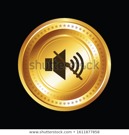mute circular vector gold web icon button stock photo © rizwanali3d