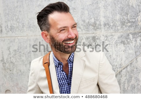 close up portrait of cool man looking away stock photo © feedough