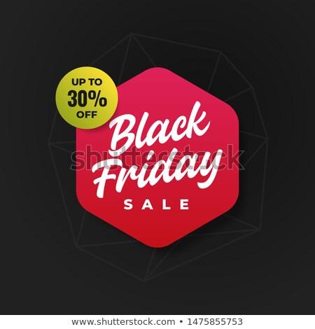 черная пятница шестиугольник Label продажи баннер черный Сток-фото © marinini