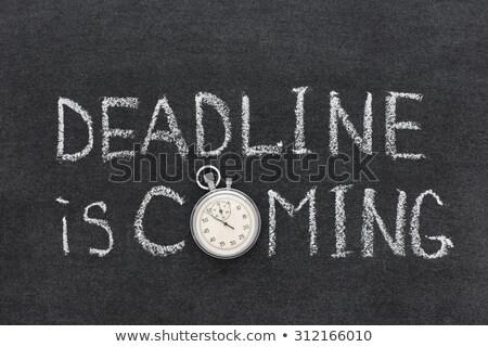 Kézzel írott határidő tábla piros felső kilátás Stock fotó © tashatuvango