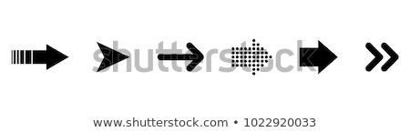 Aşağı ok mavi vektör ikon dizayn Stok fotoğraf © rizwanali3d