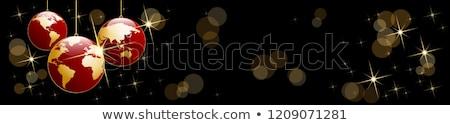 世界 · クリスマス · ボール · ベクトル · 青 · ビジネス - ストックフォト © carodi