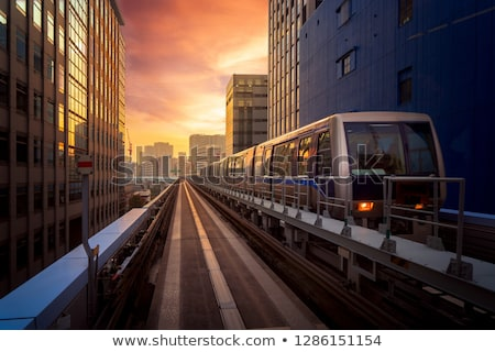 Ville train urbaine transport différent couleur Photo stock © tracer