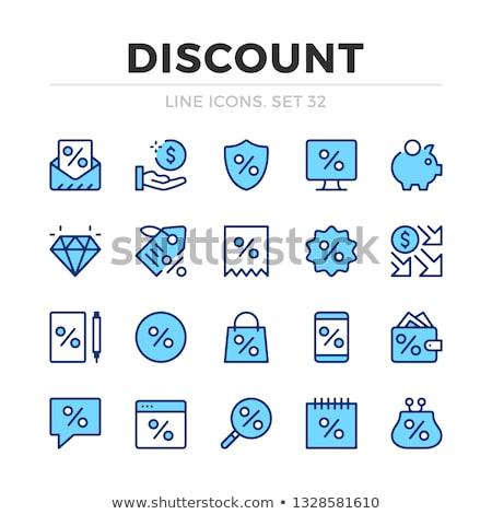 Seasonal Offer Blue Vector Icon Design Stock photo © rizwanali3d