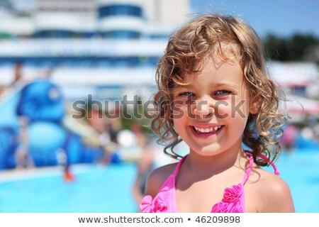 女の子 プール アクアパーク 複雑な 立って ストックフォト © Paha_L