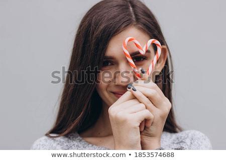 vrouw · christmas · snoep · vorm · hart - stockfoto © deandrobot