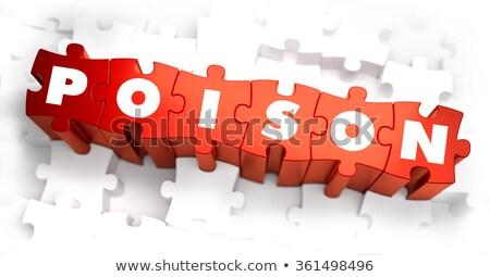 Veleno bianco parola rosso rendering 3d medici Foto d'archivio © tashatuvango