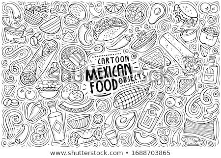 doodle vektor mexico stock photo © netkov1
