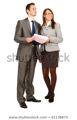 ビジネスチーム · ポスター · 笑顔 · 女性 · ボディ - ストックフォト © zurijeta