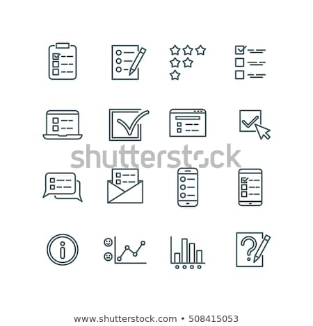 Tablet kontrol liste ikon gri düğme Stok fotoğraf © WaD