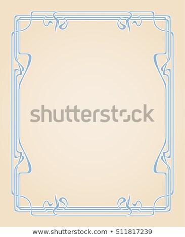 Bej kahverengi soyut stil art nouveau vektör Stok fotoğraf © rogistok