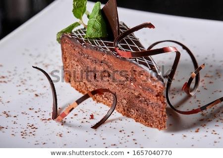 Sacher Cake (Sachertorte) Stock photo © Digifoodstock