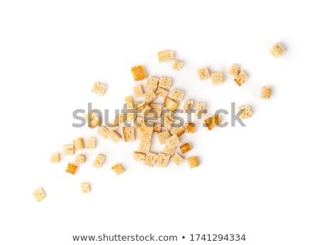 Pequeño cubos pan frito pan placa Foto stock © Digifoodstock
