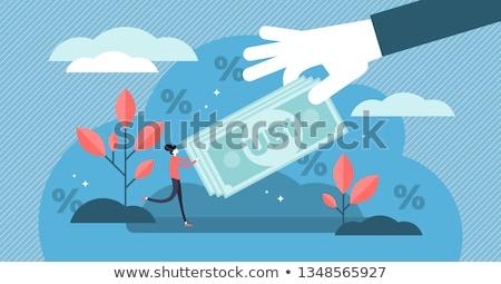 Universeel fundamenteel inkomen handen banner Stockfoto © stevanovicigor