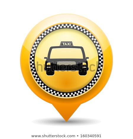 Düğmeler taksi örnek beyaz cam arka plan Stok fotoğraf © bluering