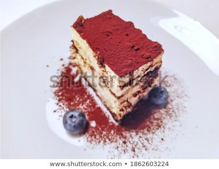 Szeszes ital torta szelet szemüveg ital tányér Stock fotó © Digifoodstock