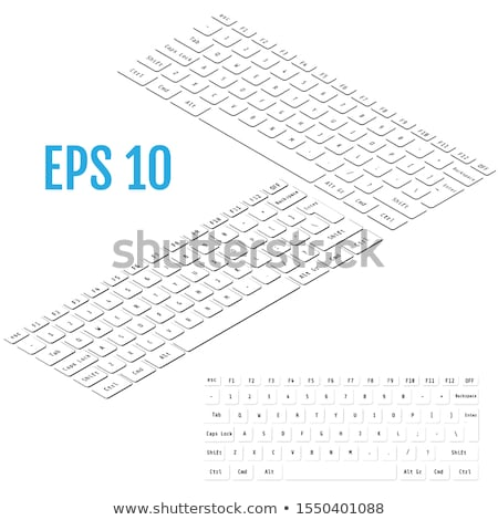 Black and white laptop keyboards in isometric view Stock photo © Evgeny89