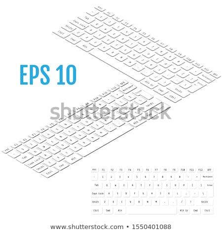 preto · e · branco · laptop · isométrica · ver · isolado · branco - foto stock © Evgeny89