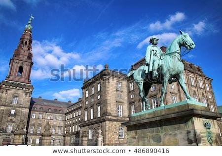 Lovas szobor keresztény palota Koppenhága Dánia Stock fotó © vladacanon
